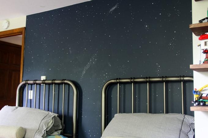 Dark Blue Night Sky Wall