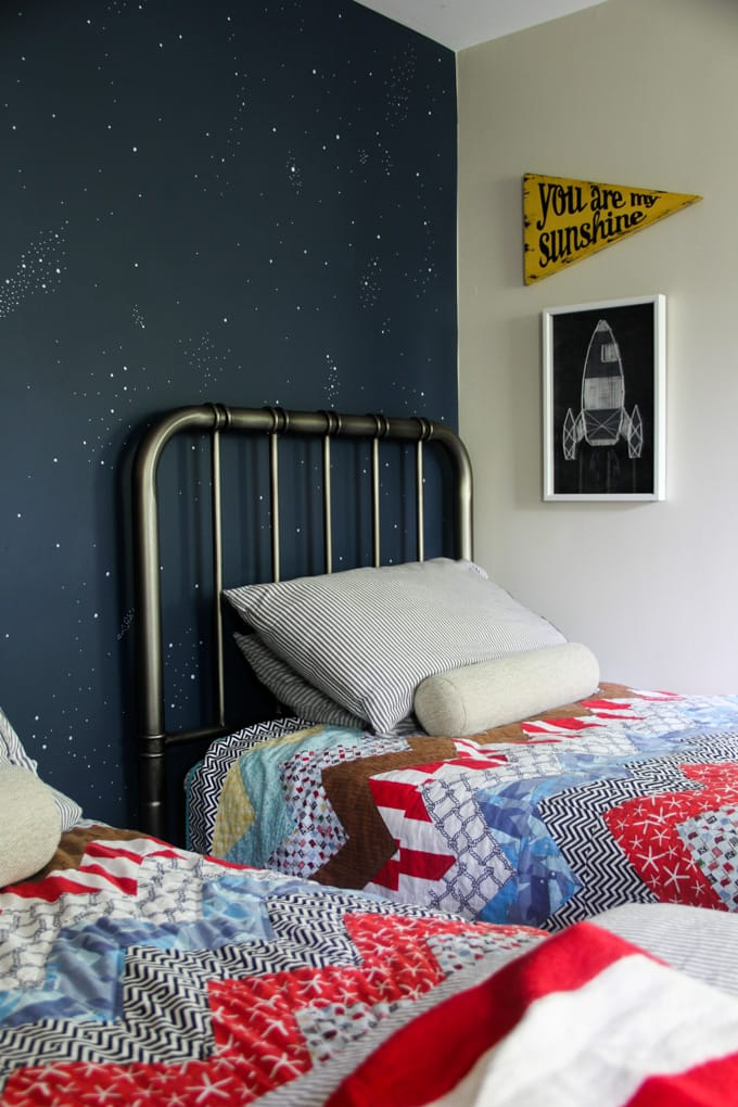 Boys Bedroom with Star Accent Wall