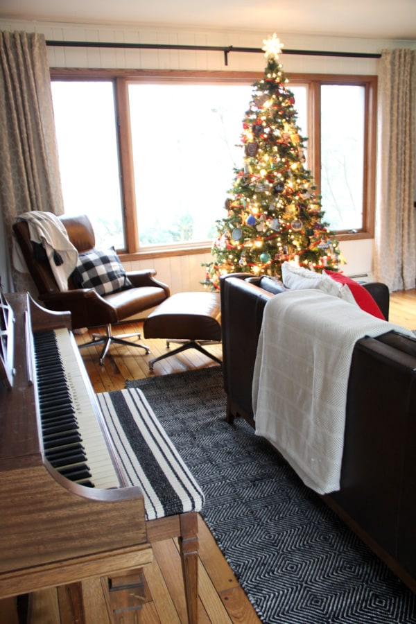 Modern Living Room at Christmas