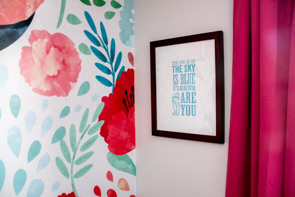 A New Wall Wallpaper in Girl's Bedroom