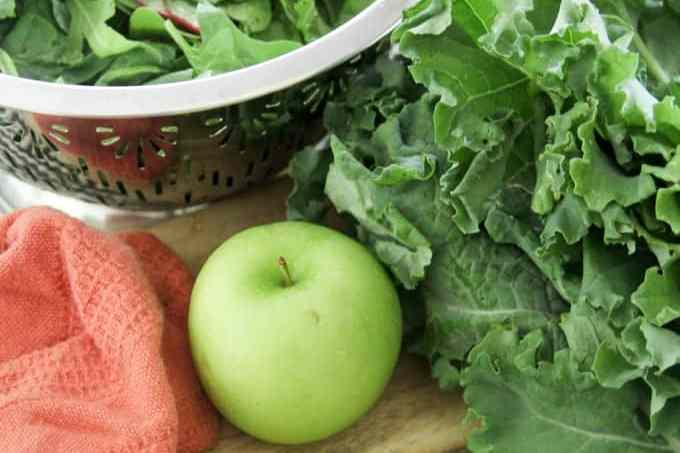 Green Smoothie Cube Ingredients