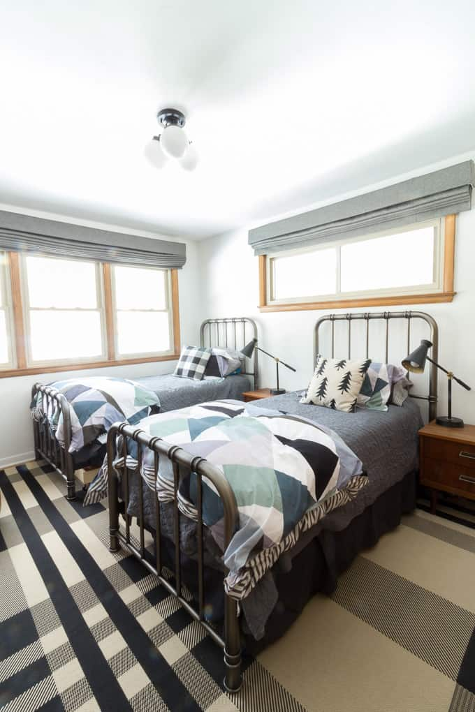 twin boy bedroom