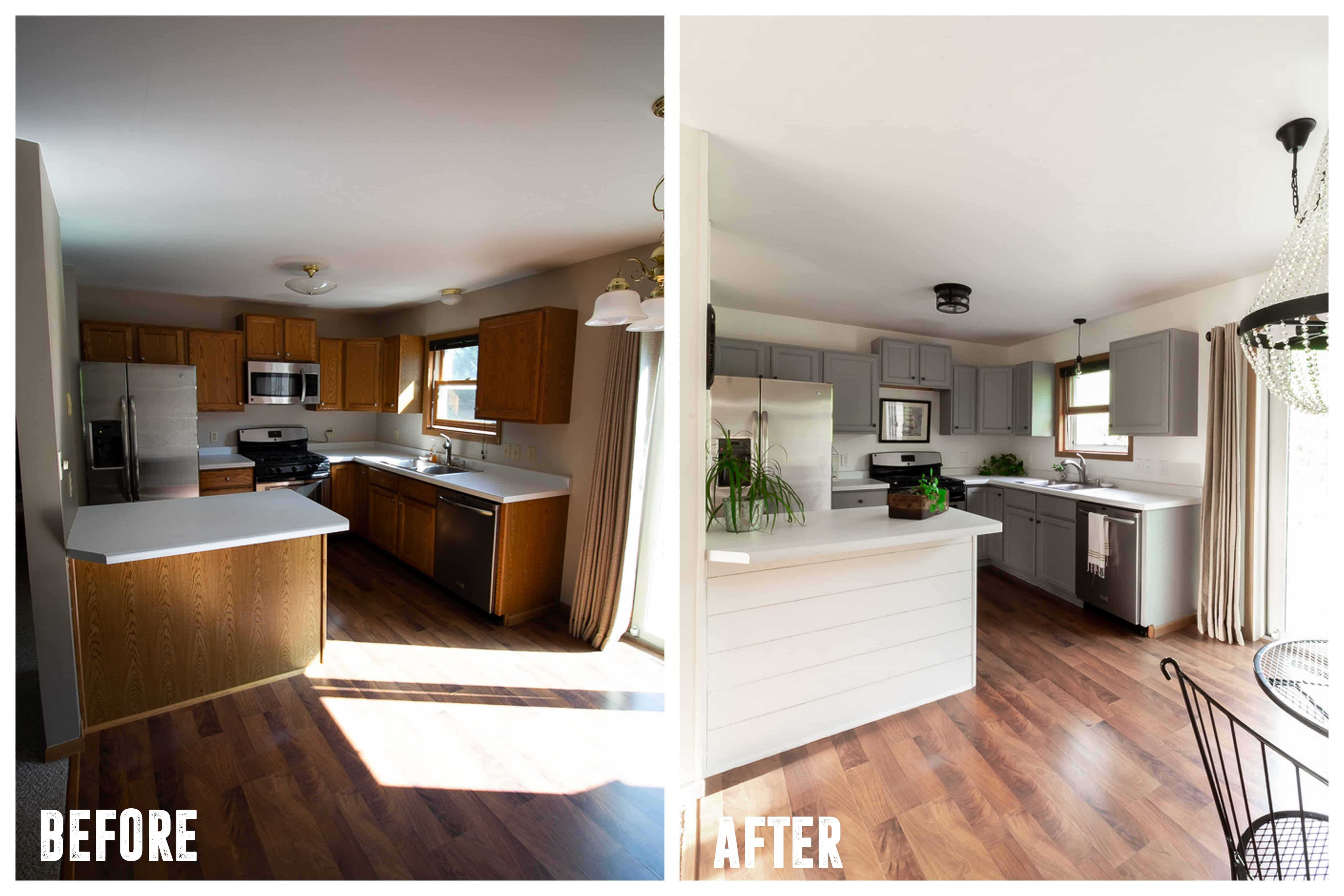 kitchen updates units affordable in a weekend bright green door diy