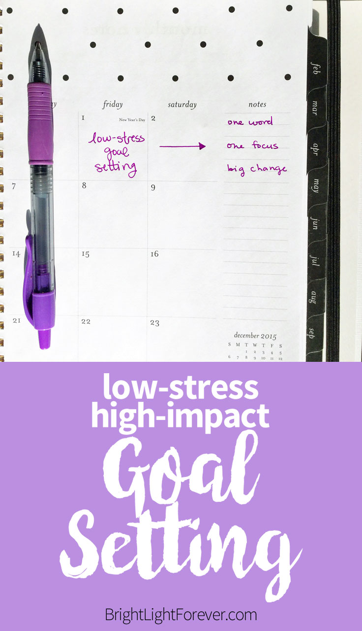 Love this! Easy goal setting, low-stress high-impact resolutions.