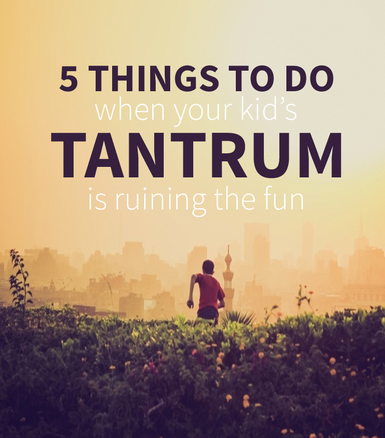 How to Deal with Tantrums When Out