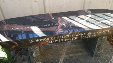 Felicity's bench