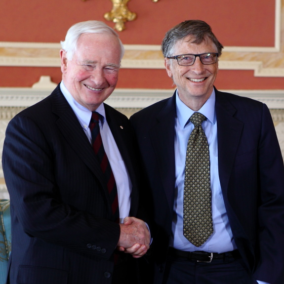 Bill Gates meets Governor General David Johnston