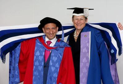 Tony Bloom and VC Debra Humphris