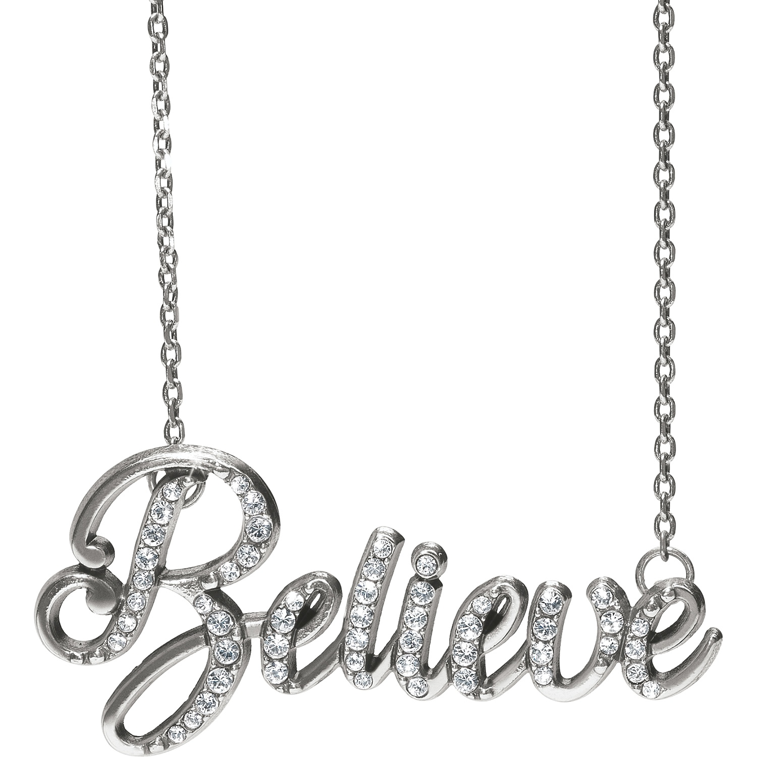 Love Script Believe Script Necklace Necklaces