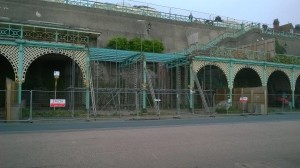 Madeira terraces fenced off. Picture by Ken Frost