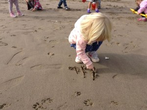 Playing on Portobello Beach