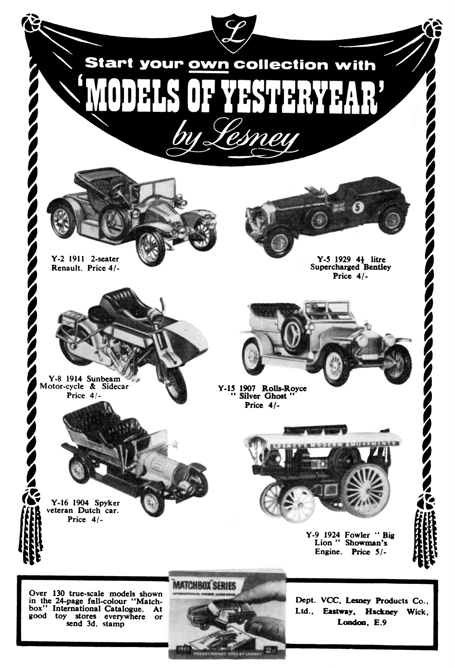 Matchbox Models Of Yesteryearcast Toy Vehicles
