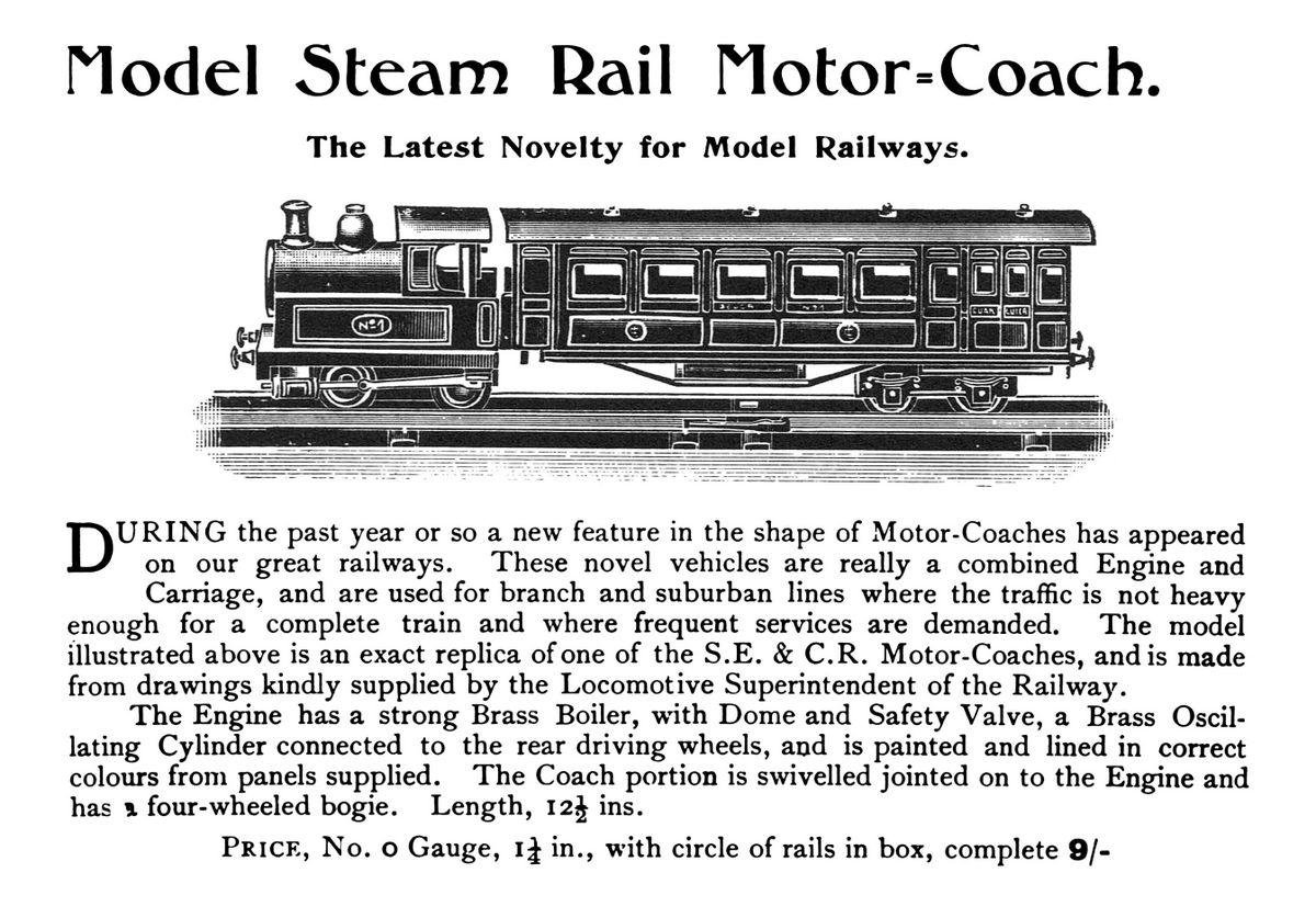 SECR Steam Rail Motor Coach No1, gauge 0 (Georges Carette