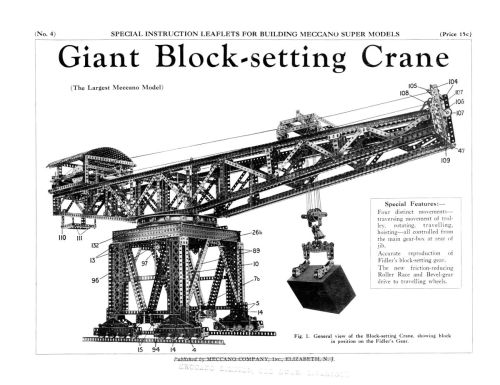 small resolution of meccano giant block setting crane meccano super models no 4 the brighton toy and model index