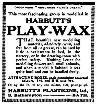 Harbutt's Play-Wax modelling wax (~1914?-)