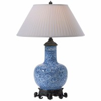 Blue and white ceramic table lamp, Table Lamps from