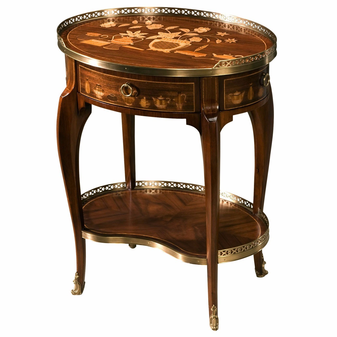 Mahogany dressing table, Lamp / Side tables from Brights