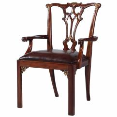 Chippendale Dining Chair Swivel Bed Thomas Style Mahogany Arm