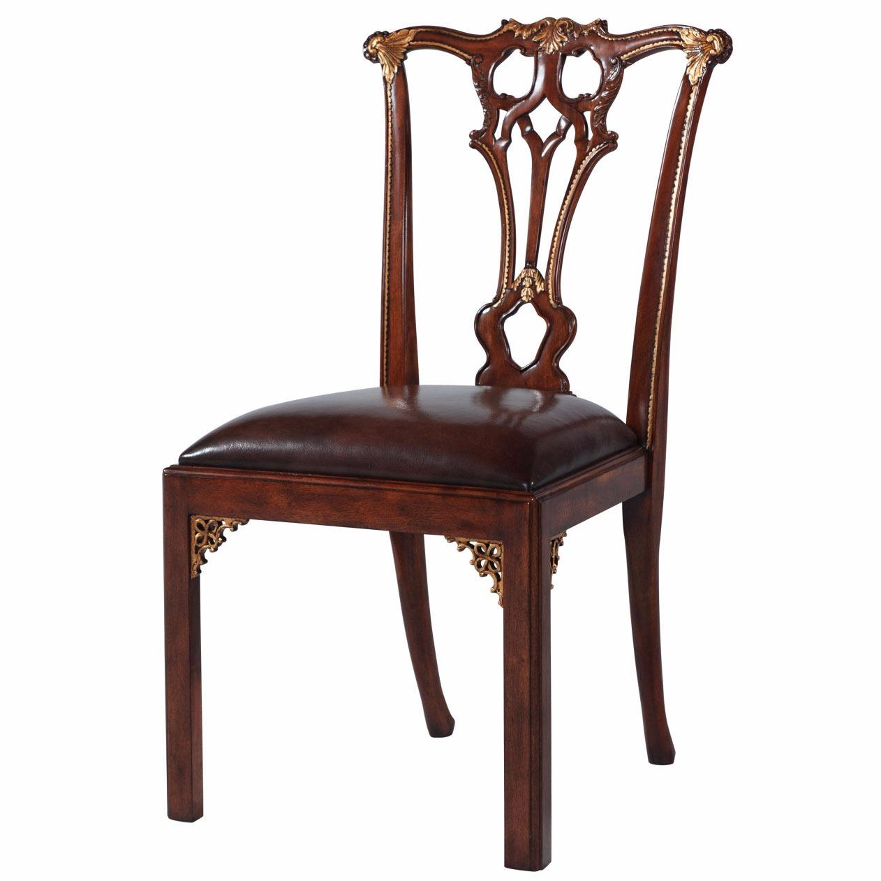 chippendale dining chair discount camping chairs thomas style mahogany