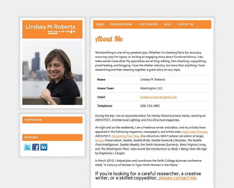 Lindsey M. Roberts former website