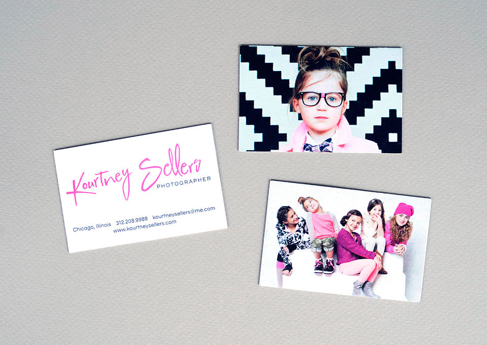 Kourtney Sellers business cards by Bright Spot Studio