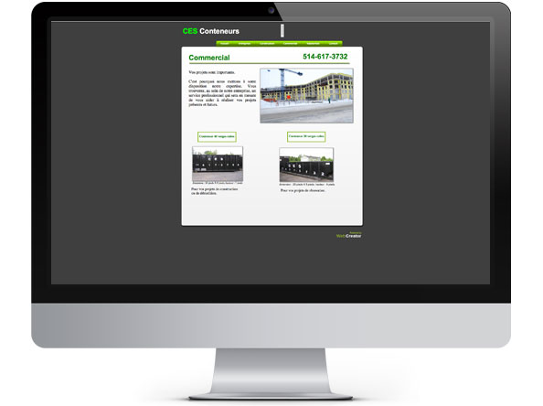 CES Conteneurs website before redesign