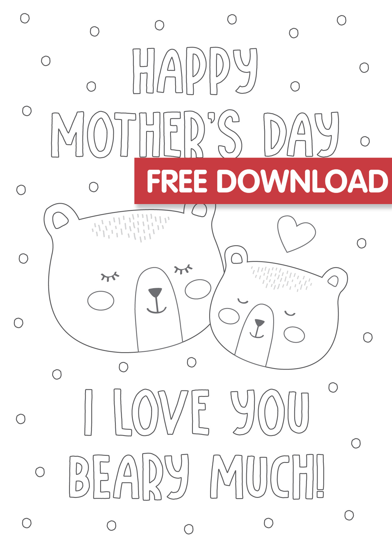 Free Mother S Day Colouring Card Printable