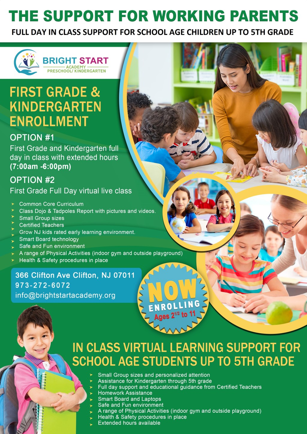 Full Day In Class Support For School Age Children Up to 5th Grade