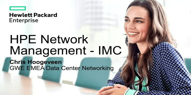 HPE Intelligent Management Center Enterprise Software Platform
