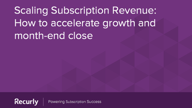 Scaling Subscription Revenue How to accelerate growth and