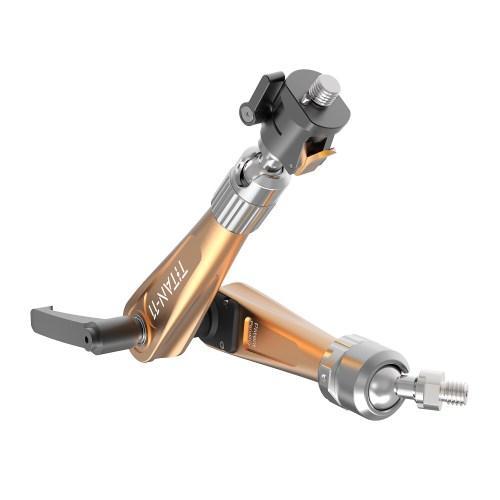 B3000.0020 Titan Support Arm Orange with single 3822 QR bracket Monitor Side