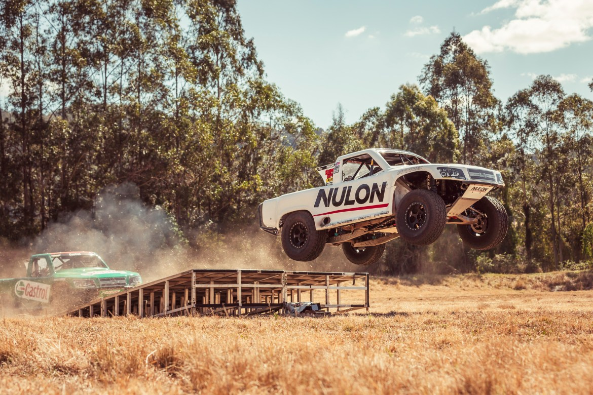 Nulon Oils Truck makes a jump