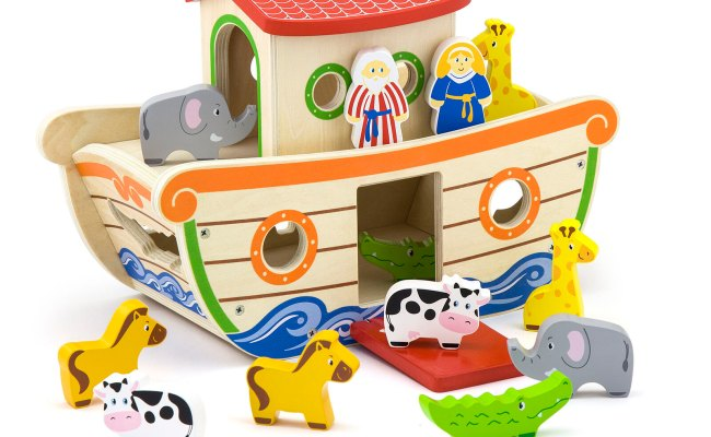 Noah S Ark Shape Sorter Game Wooden Educational Toy