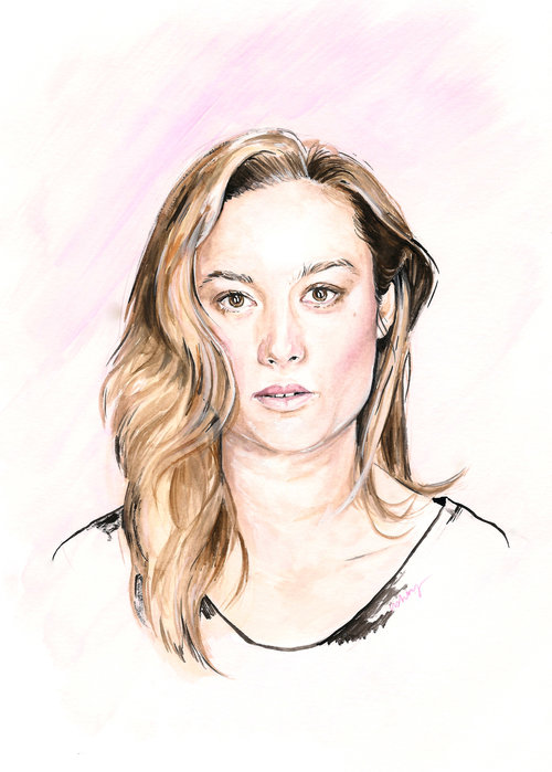 United States Of Brie Larson Bright Wall Dark Room
