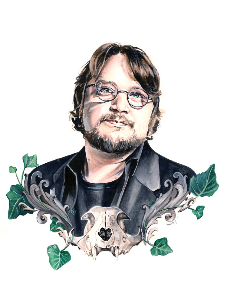 Guillermo del Toro | art by Brianna Ashby
