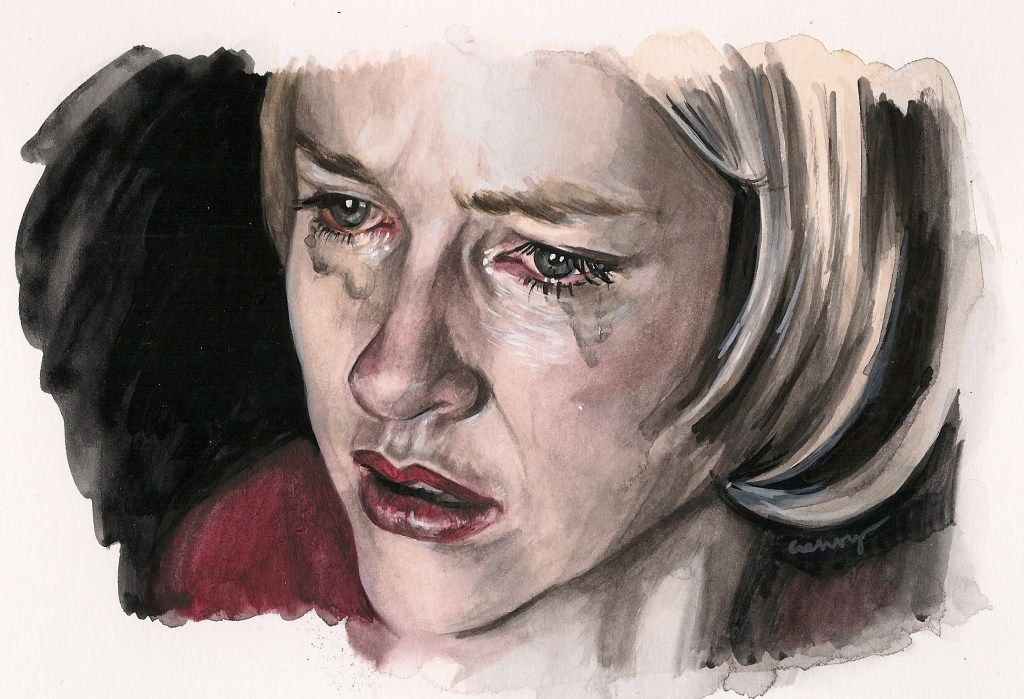 Naomi Watts in Mulholland Drive | art by Brianna Ashby