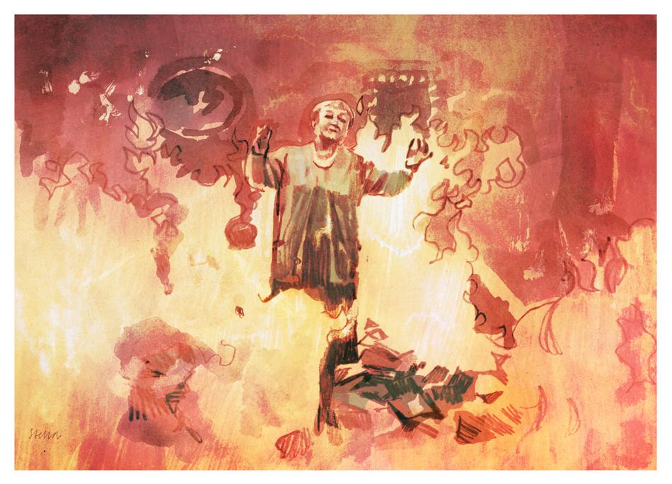François Truffaut's 'Fahrenheit 451'   art by Tony Stella