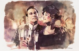 Ray Liotta and Lorraine Bracco in GOODFELLAS | art by Tony Stella