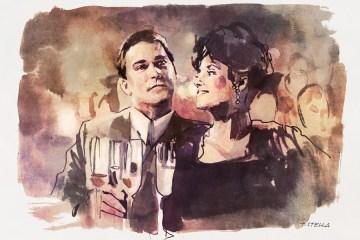 Ray Liotta and Lorraine Bracco in GOODFELLAS   art by Tony Stella