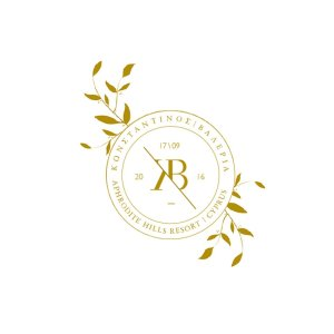 Gold Floral Stamp Wedding Logo