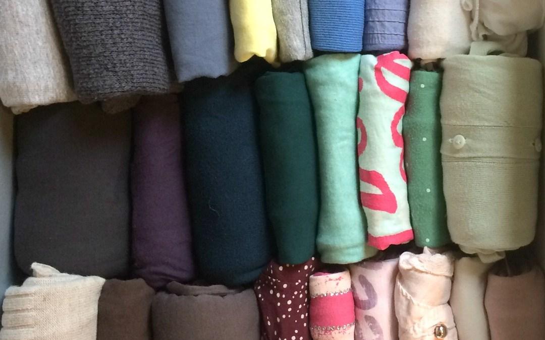 Pliage des tee-shirts à la façon Marie Kondo