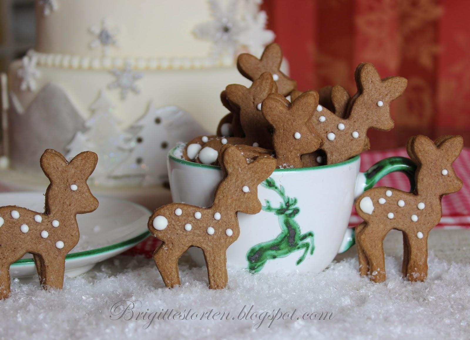 Bambis backen in der Adventszeit  Brigittes Tortendesign