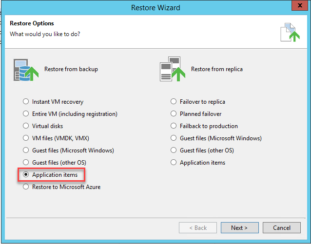 Veeam SQL Explorer - Restore to a different server