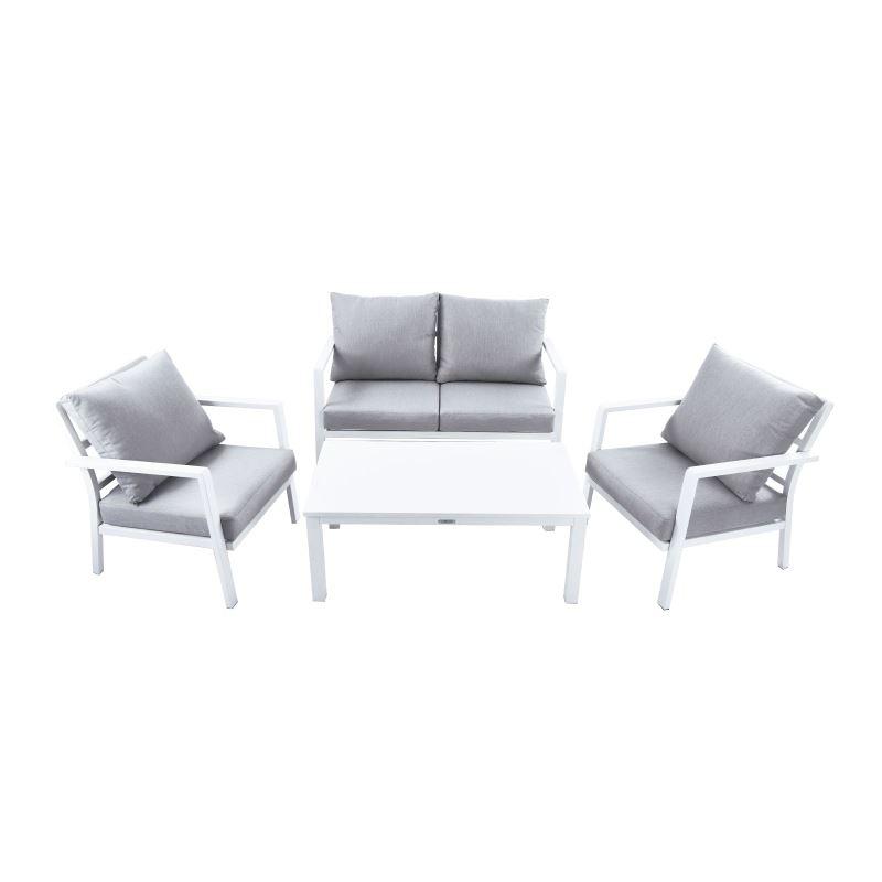 Set salotto da giardino in alluminio 4 pz  Brigros