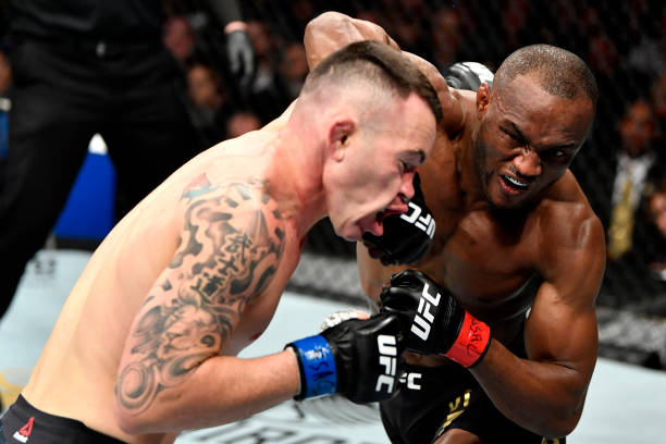 Nigerian UFC Champion Kamaru Usman breaks Opponents' Jaw and wins by KO