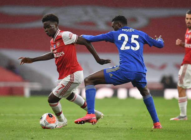 Saka outshines Nigerian brothers as Arsenal and Leicester City shares the spoils - Latest Sports News In Nigeria