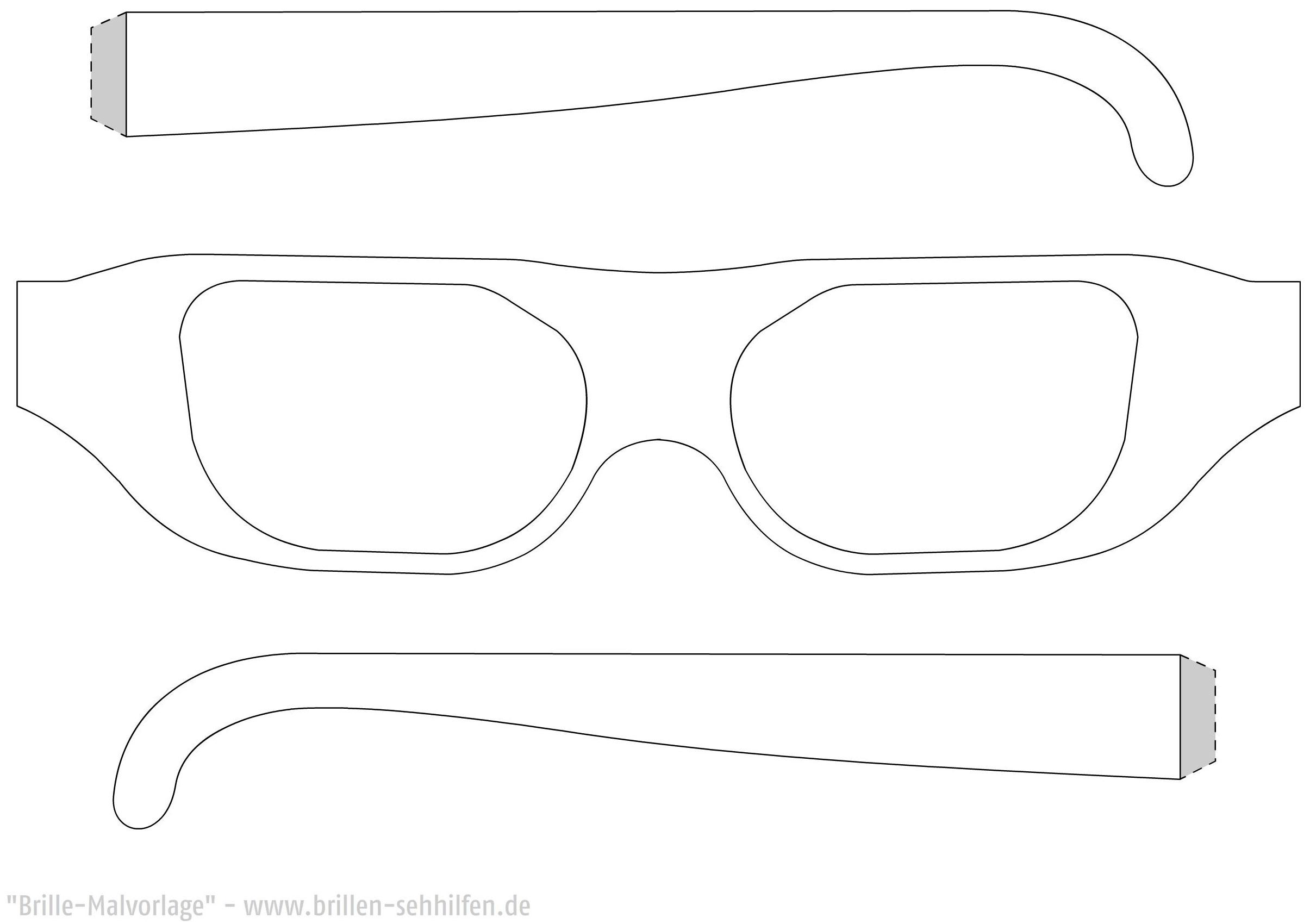 brillen bastel vorlage  lowenzahn vr brille zum