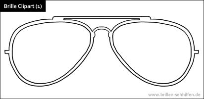 Brillen Clipart, Ausmalbilder und Malvorlagen