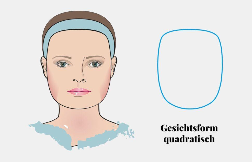 Gesichtsform Quadratisches Gesicht Brillenstyling
