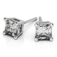 Asscher Diamond Stud Earrings in Platinum (1 ctw)